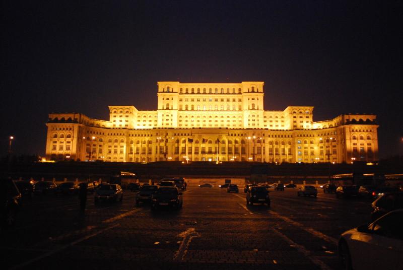 Pompöses Bukarest: Der Parlamentspalast.