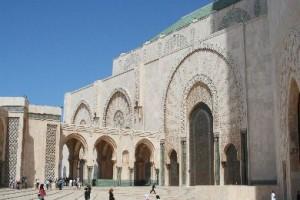 Die zweitgrößte Moschee der Welt: die Moschee Hassan II in Casablanca.